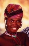 Žena z kmene Peulh v kočovné vesnici Boro Goh nedaleko Prakou, Benin.